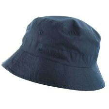33852af5298 MENS NAVY BLUE BUCKET SUN HAT all sizes 100% cotton pre washed bush cap  hiking