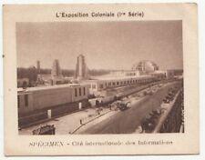 Exposition Coloniale cité des informations ancienne chromo image vache qui rit