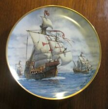 First Voyage Limited Edition Franklin Mint Boat Ship Collector Plate Nautical