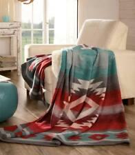 IBENA Light Southwestern Woven Cotton/ Merino Wool Throw Blanket Carrizo