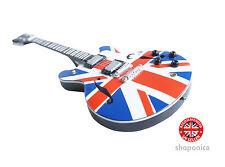 Union Jack Design Wooden Mini Guitar Replica