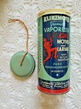 Vintage 1945 Collectible Tin Container Klinzmoth Junior Vaporizer