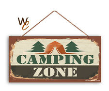 Camping Zone Sign, The Great Outdoors Sign, Campground 5x10 Sign