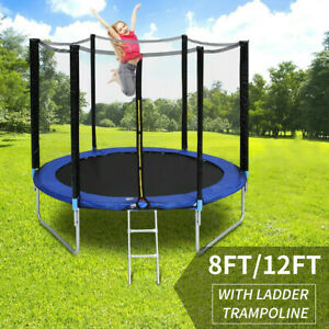 Trampoline 8/12FT With Free Safety Net Enclosure,Ladder,Spring Cover,In/Outdoor