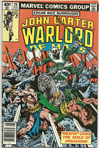 John Carter Warlord of Mars #26 FN/VF Aug 1979 Ch. Claremont Mike Vosburg Marvel