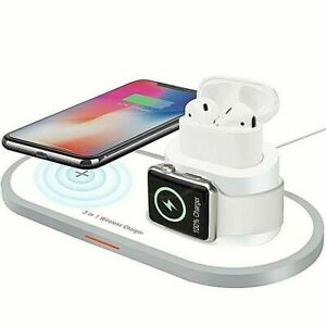 3 in 1 QI Wireless Charger Dock for Apple Watch iPhone 12/ 12 MIni 11 Pro Airpod