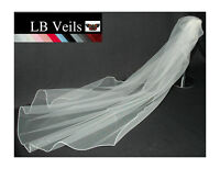 Crystal Veil Wedding Chapel Length Ivory Single Tier Long LBV144 LB Veils UK