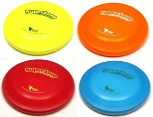 Super Aero Dog Disc Bite Resistant Lightweight Dog Frisbee Toss & Catch Flyer