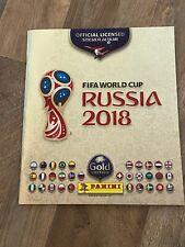 2018 Panini Russia FIFA World Cup Soccer EMPTY Sticker Album- Gold Edition
