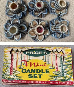 Wade Candle Holders Boxed Grey Blue Brown Lily Floral x6 Prices Mini Candle Set