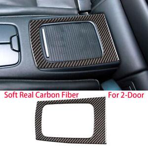 Carbon Fiber Rear Row Storage Box Frame Trim Kit For BMW E92 M3 2007-2013 2-Door