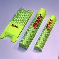 "Retro BMX Pad Set (20"" Fluoro Lime Yellow) —AUS STOCK— Bike Bicycle Safety Crash"