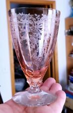 New ListingFostoria June Pink Footed Water Glasses 5-1/4� Tall 9oz