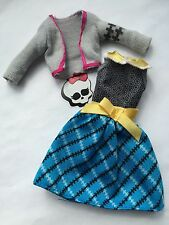 Monster High Dolls Clothes Dress+cardi Outfit Frankie Picnic Casket