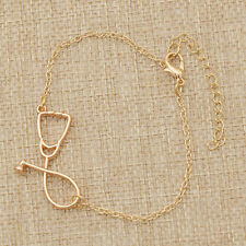 Stethoscope bracelet Fashion Medical Jewelry Copper Chain for Nurse Doctor
