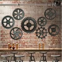 Industrial Wooden Gear Wall  Antique Home Pub Hanging Antique Art Bar