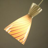 Pendel Leuchte Vigo Peill + Putzler Design Aloys F. Gangkofner 50er Glas Lampe