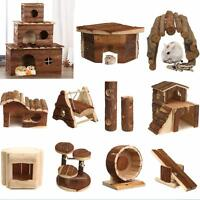 16 Pattern Wooden Warmer House For Hamster Hedgehogs Mice Other Small Rodent Toy