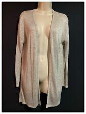 SPRING/SUMMER UK 10 Bohemian Layering Jacket Loose Cardigan Boho Oatmeal Beige