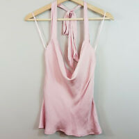 BARDOT  | Womens Jacques Halter Top in Blush Pink NEW $79.99 [ AU 6 or US 2 ]