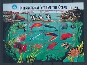 [32278] Grenada 1998 Marine Life Fish UNESCO Penguins Lighthouse MNH Sheet