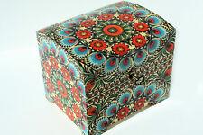 Wood handmade hinged lockable medium trinket chest box decoupage MOROCCAN