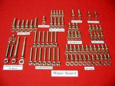 MOPAR SLANT 6 STAINLESS STEEL ENGINE HEX BOLT KIT