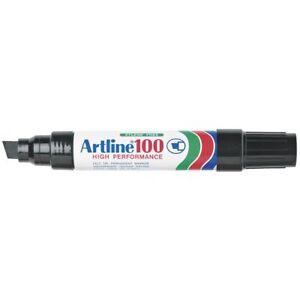 18 x Artline 100 BLACK 7.5-12mm Chisel Nib