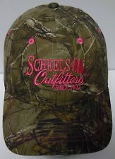 SCHEELS OUTFITTERS Hunting Fishing Camping ADVERTISING Camo Pink LADIES HAT CAP