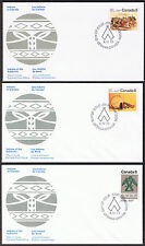 Set of 3 Canada First Day Covers - Indians of Canada 1975 Stamps sg727, 737, 738