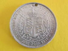 To Commemorate the Coronation of KGV White Metal Medal KGV 1935 38mm dia