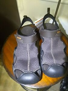 Crocs Swiftwater sandels mens size 10 new with tags espresso