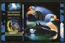 DJIBOUTI 2016 AQUATIC BIRDS  SOUVENIR SHEET MINT NH