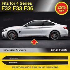 Für BMW F32 F33 F36 4er M Performance Seitenschweller Schweller Aufkleber GLANZ