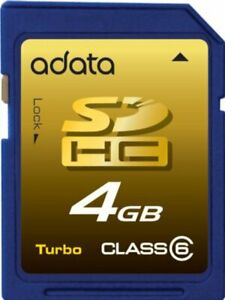 Adata Secure Digital SDHC Class 6 Memory Card 4GB (ASD2004GCL6BU)