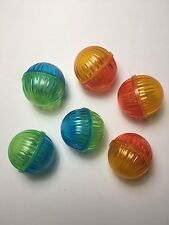 Colorful Cat Kitten Toy Durable Jingle Bell Balls LOT OF 6 Assorted Colors