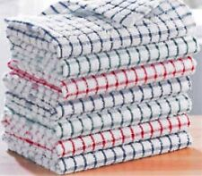 Pack Of 24 Kitchen Terry Tea Towels 100% Cotton Dish Cloths Cleaning Drying