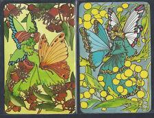 #915.287 Blank Back Swap Card -MINT pair- Sally Gibb, Fairies in bold colours