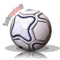 Fussball aufgepumpt Größe 5 Freizeitball weiß grau blau Ball Spielball Karro