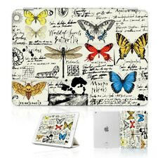 ( For iPad 2 3 4 ) Front Back Case Cover PB40112 Butterfly Dragonfly