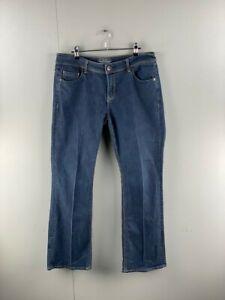 Esprit Mens Blue Mid Rise Regular Fit Stretch Denim Bootcut Jeans Size 32