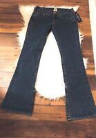 NEW True Religion Denim Jeans Womens Big T Jennie Curvy Skinny Stretch sz 28