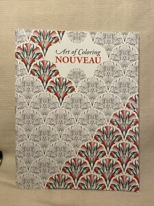 Adult Colouring Book Of Nouveau To Help Reduced Stress & Anxiety, Mind Relaxing