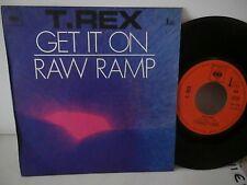 """t.rex""""get it on""""raw ramp""""single.7""""or.fr.cbs:7393.biem de 1971.pochette foncé"""