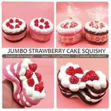 "12CM 4.7"" Big Jumbo Strawberry cake Slow Rising Scented Bread Toy Gift Random UK"