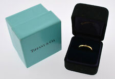 TIFFANYS 18K YELLOW GOLD PERETTI LADIES DIAMOND BAND SIZE 4 1/2