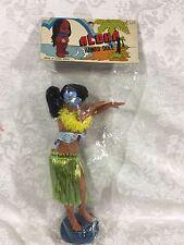 """Vintage 1970s ALOHA HAWAII Hawaiian 8.75"""" Hula Doll Figure MIP"""