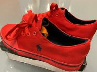Mens Ralph Lauren Polo Crofton Trainers Red Shoes UK 7