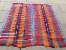 Old Tribal Nomadic Hand Made Persian Oriental Pink Wool MOJJ Kilim 168x177cm