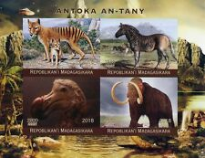 More details for madagascar stamps 2018 mnh prehistoric extinct animals dodo mammoths 4v impf m/s